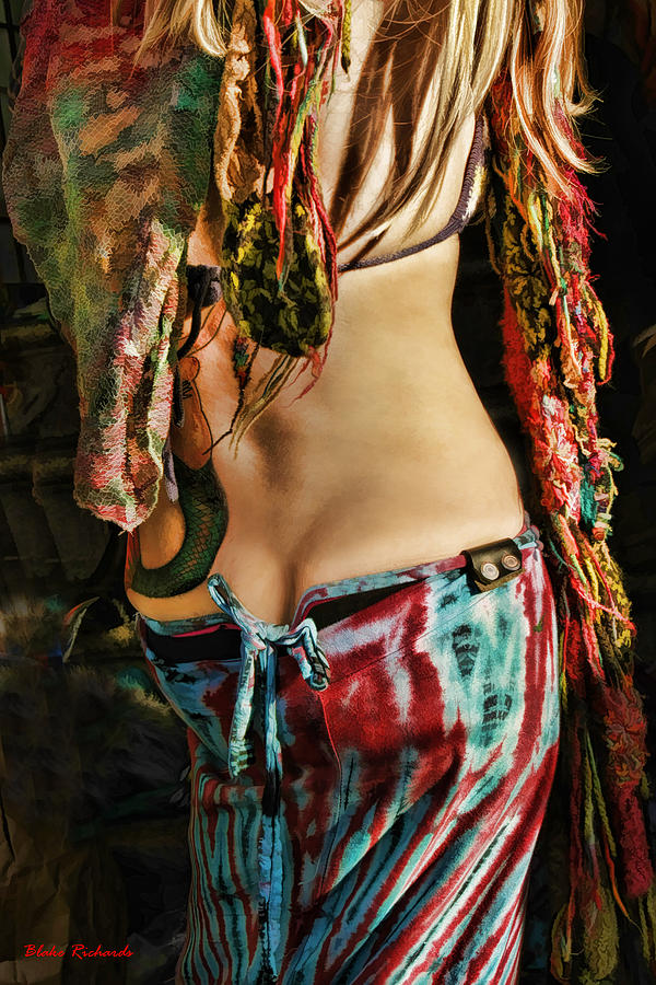 Pretty Girls Photograph - Hippy Back by Blake Richards