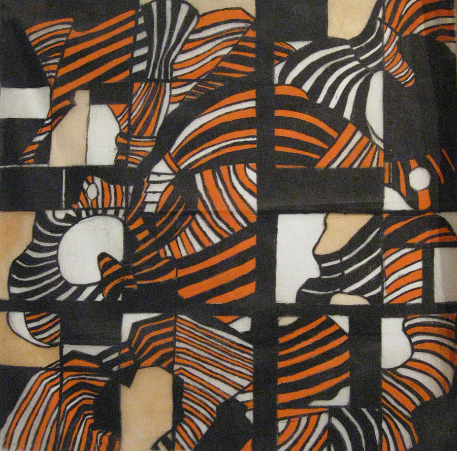 Orange Tapestry - Textile - Hips by Diana Tatucu