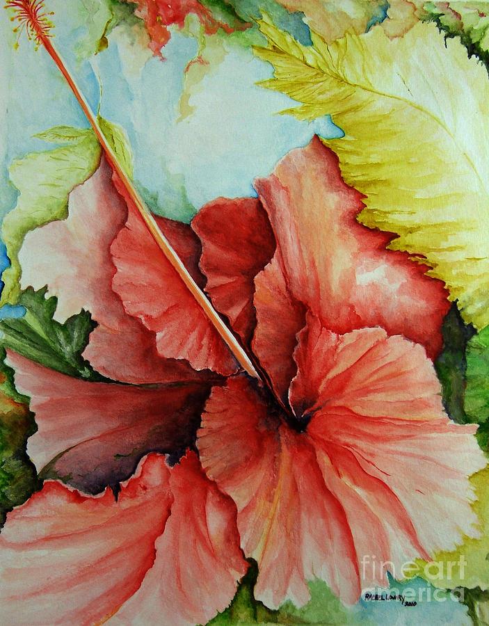 Hiroko's Hibiscus 2 by Rachel Lowry