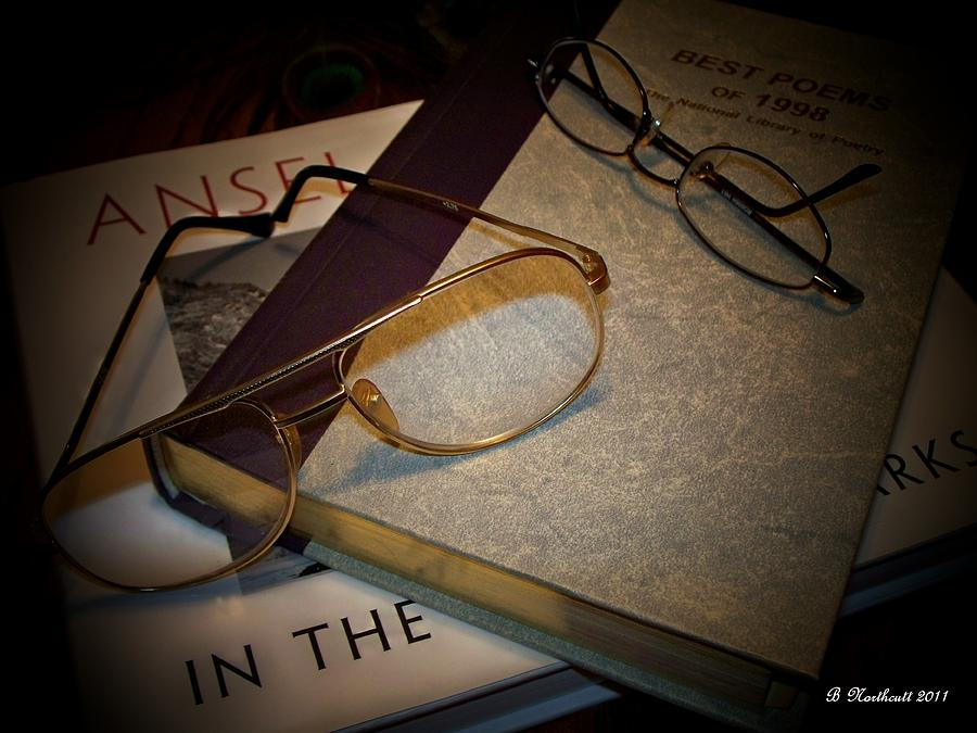 Eyeglasses Photograph - His And Hers - A Still Life by Betty Northcutt