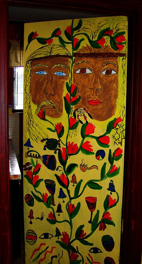 Door Painting - His And Hers by Betty  Roberts