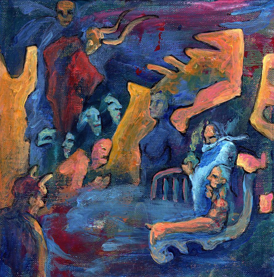 Creature Painting - His Domain by David Matthews