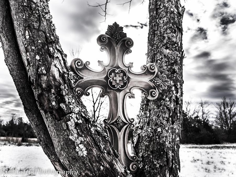 Cross Photograph - His Highest  by Kim Loftis