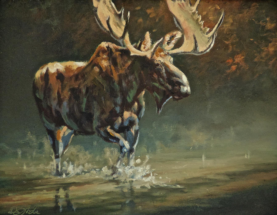 Wildlife Painting - His Majesty by Mia DeLode