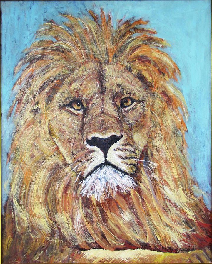 Lion Painting - His Majesty by Thomas Michael Meddaugh