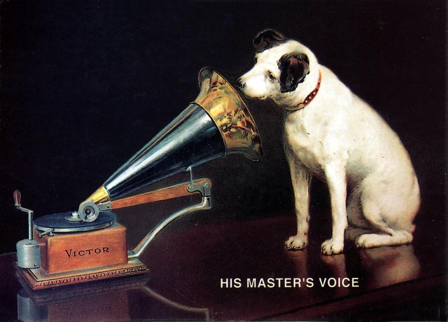 His masters voice hmv dog and gramophone vintage advertising his masters voice mixed media his masters voice hmv dog and gramophone gumiabroncs Image collections