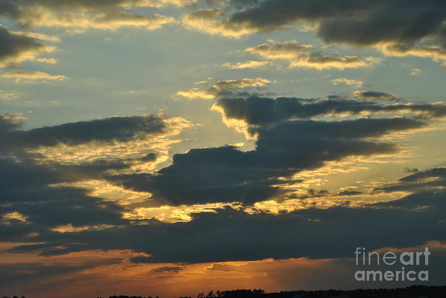 Clouds Photograph - His Power Shines Through by Frank Larkin