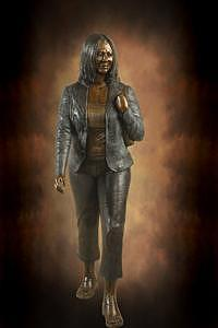 Hispanic Woman Sculpture by Tom White