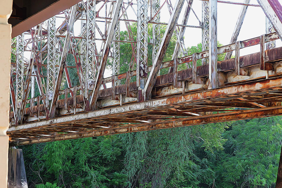 Historic Brazoria Bridge by Judy Wright Lott