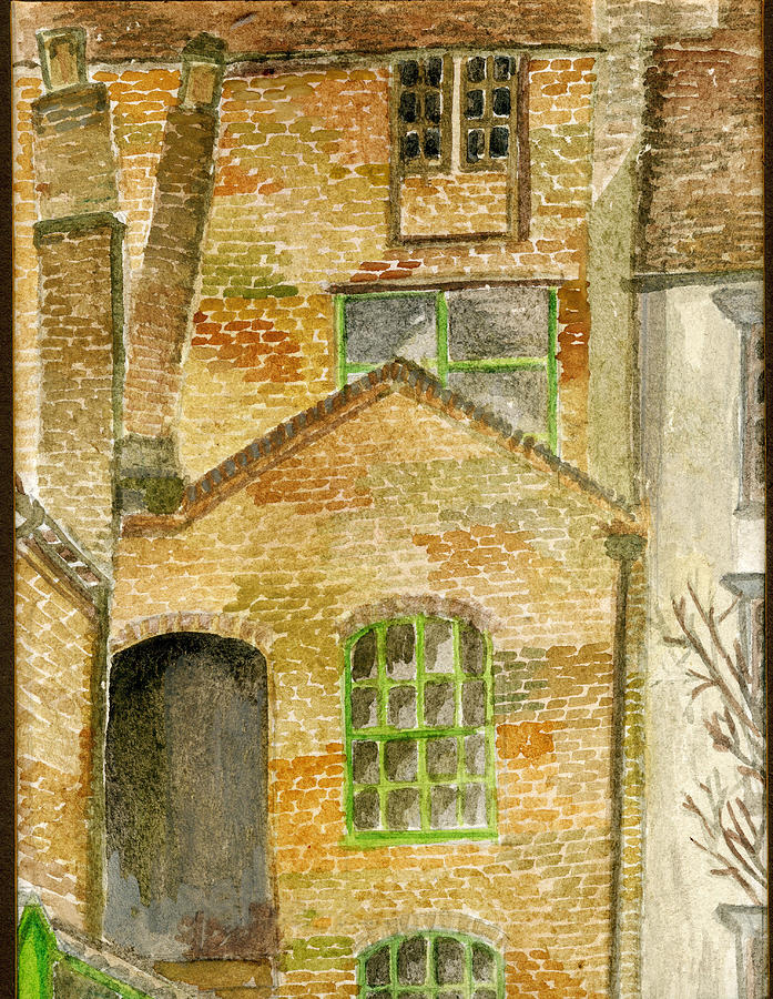Historic Brick houses in Ironbridge by Wendy Le Ber