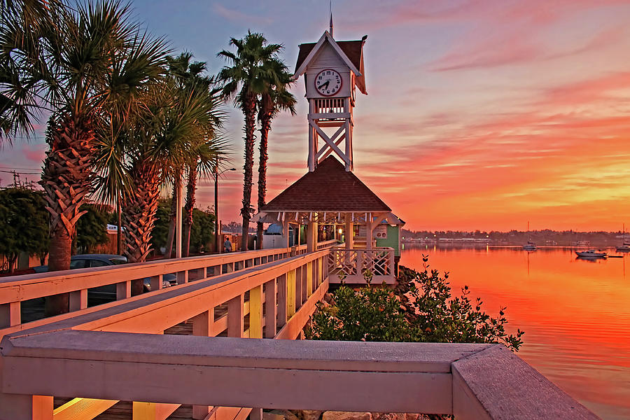 Bridge Street Photograph - Historic Bridge Street Pier Sunrise by HH Photography of Florida