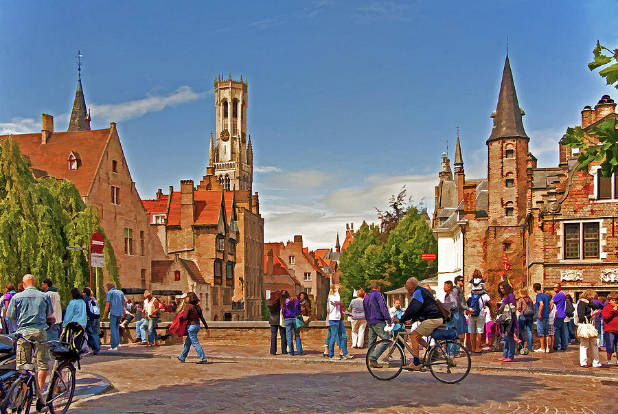 Europe Photograph - Historic Bruges by Dennis Cox