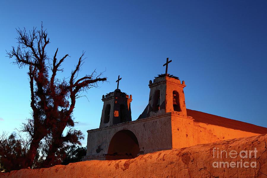 Chile Photograph - Historic Chiu Chiu Church Chile by James Brunker