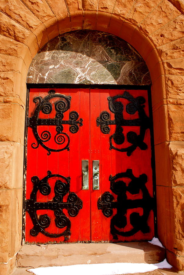 Church Photograph - Historic Church Doors by Sonja Anderson