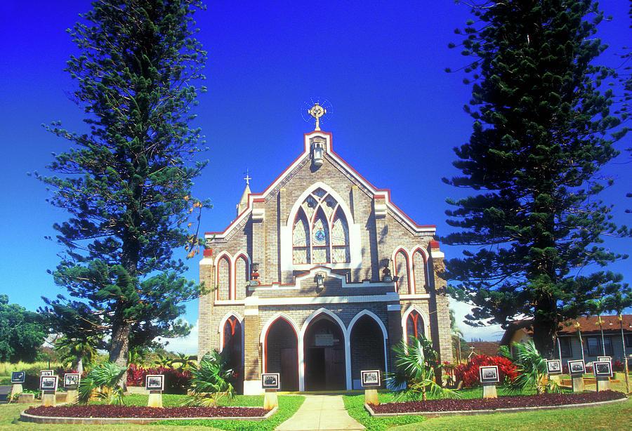 Hawaii Photograph - Historic Church Maui by John Burk