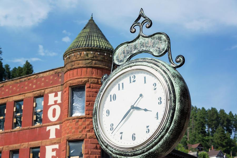 Deadwood Photograph - Historic Clock In Deadwood by Jess Kraft