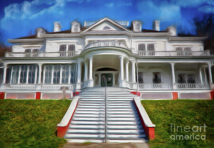 Moses Cone Manor Painting - Historic Cone Manor Blue Ridge Parkway Ap by Dan Carmichael