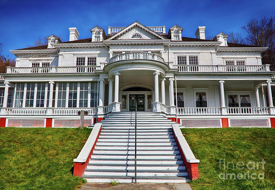 Moses Cone Manor Photograph - Historic Cone Manor Blue Ridge Parkway by Dan Carmichael