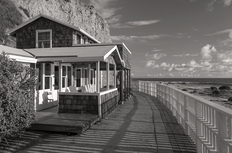 Newport Beach Photograph - Historic Cottage  Crystal Cove Black And White by Cliff Wassmann