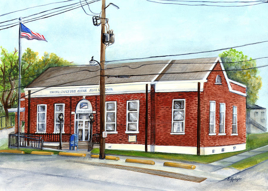 Louisiana Painting - Historic District Post Office by Elaine Hodges