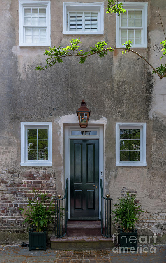 Entrance Photograph - Historic Downtown Charleston Entrance  by Dale Powell