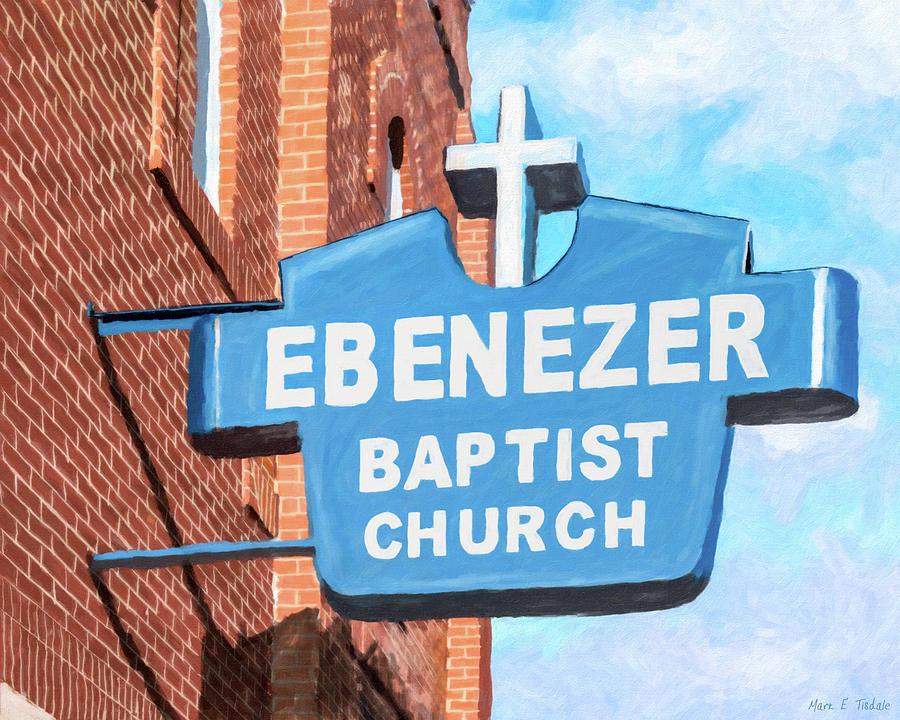 Atlanta Mixed Media - Historic Ebenezer Baptist Church - Sweet Auburn by Mark Tisdale