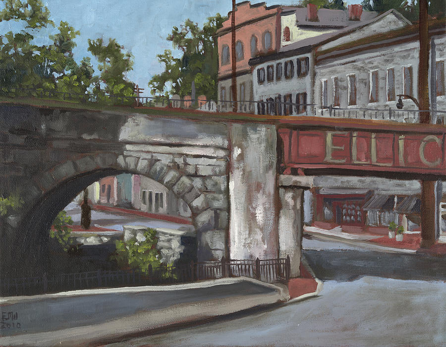 Historic Ellicott City Painting by Edward Williams