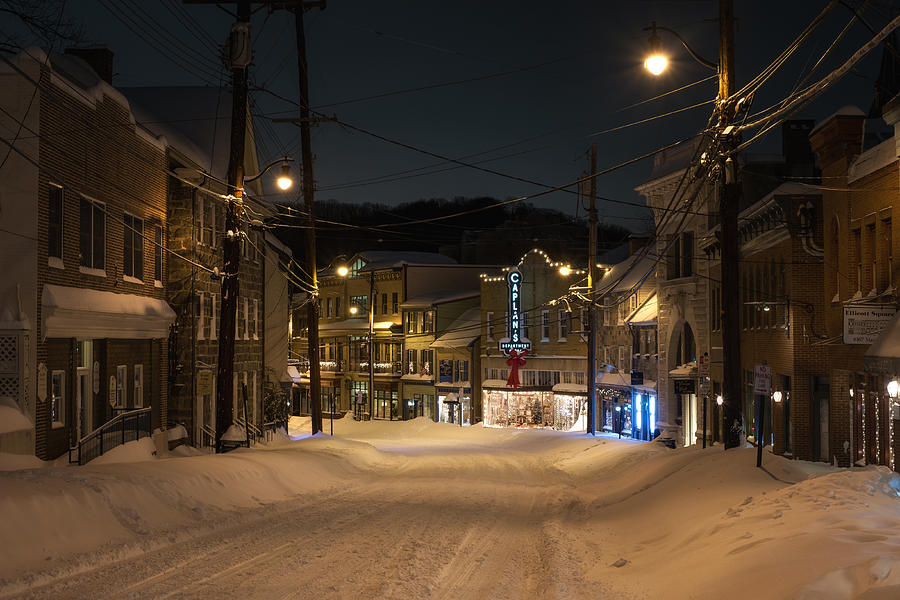 Historic Ellicott City In Snow Photograph by Geoffrey Baker