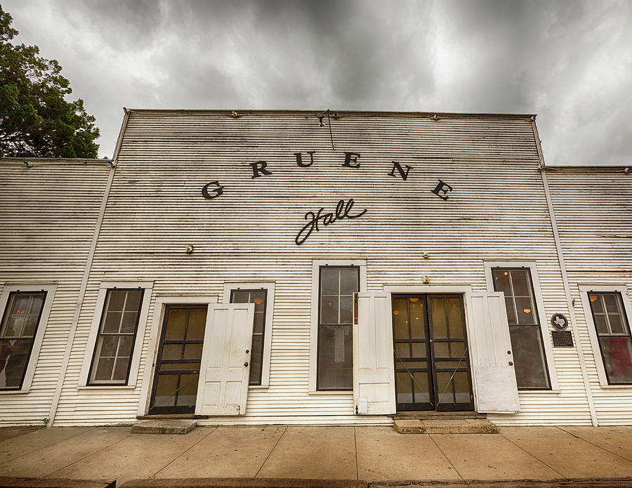 Gruene Photograph - Historic Gruene Hall by Stephen Stookey