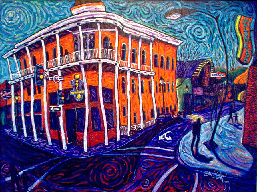 Historic Painting - Historic Hotel Weatherford by Steve Lawton