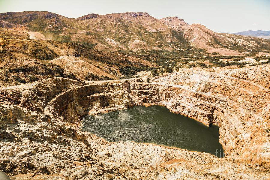Mine Photograph - Historic Iron Ore Mine by Jorgo Photography - Wall Art Gallery
