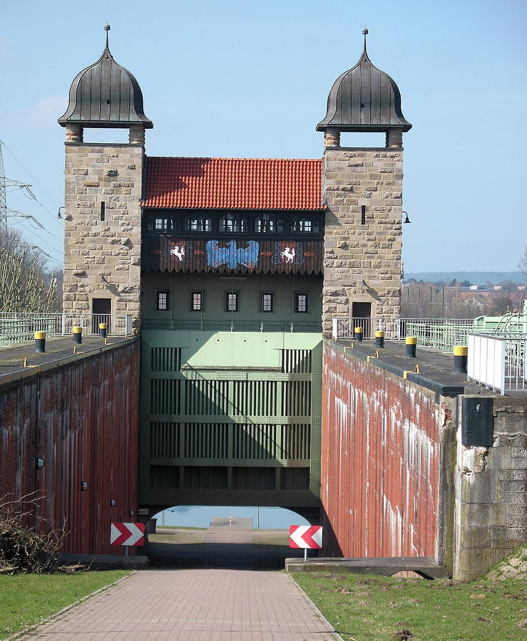 Steeple Photograph - Historic Lift Lock by Christiane Schulze Art And Photography