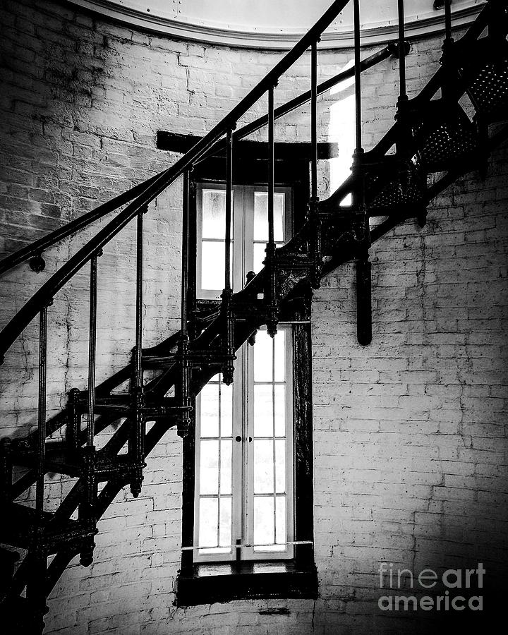 Historic lighthouse steps Photograph by JMerrickMedia