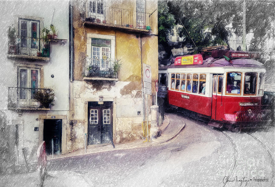 Lisbon Painting - Historic Lisbon Tram by Chris Armytage