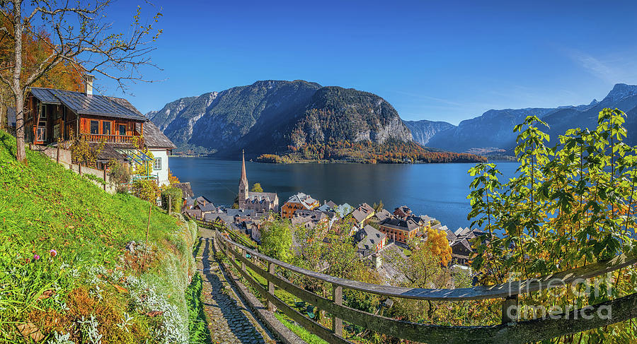 Alpine Photograph - Hiking In Hallstatt by JR Photography