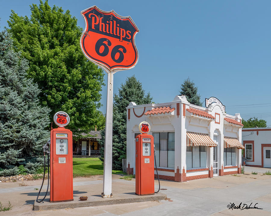 Historic Phillips 66 Gas Station by Mark Dahmke