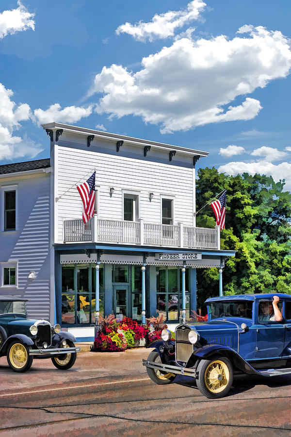 Door County Painting   Historic Pioneer Store In Ellison Bay Door County By  Christopher Arndt