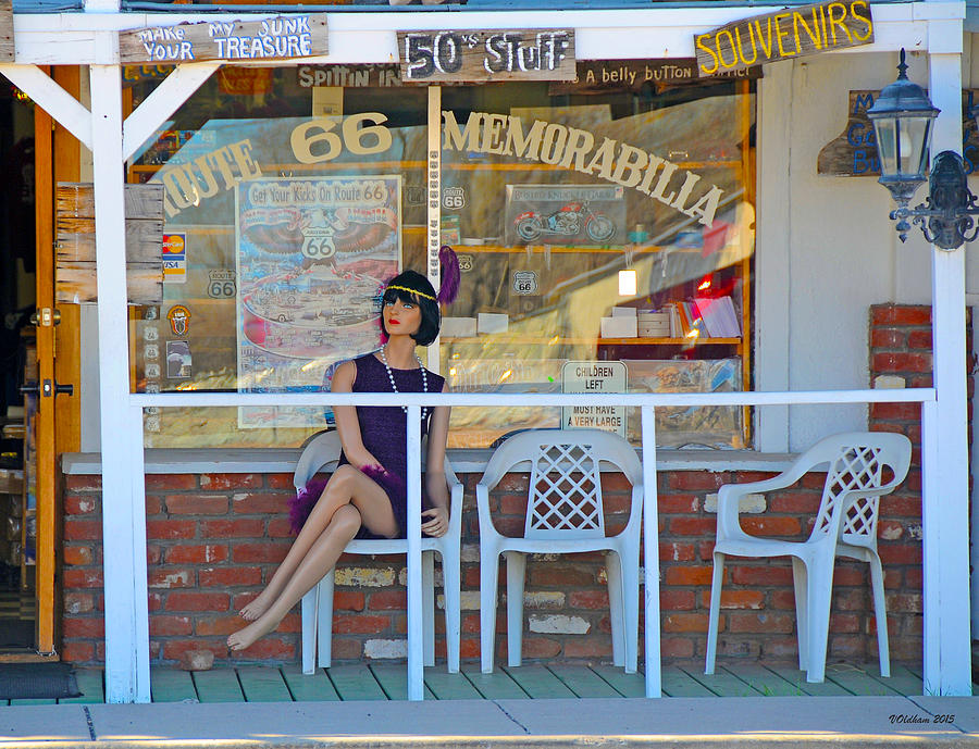Historic Route 66 Memorabilia by Victoria Oldham