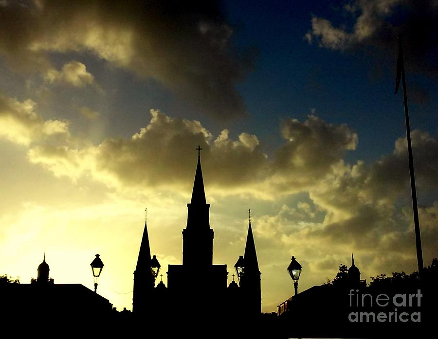 St. Louis Cathedral A Historic Silhouette At Jackson ...