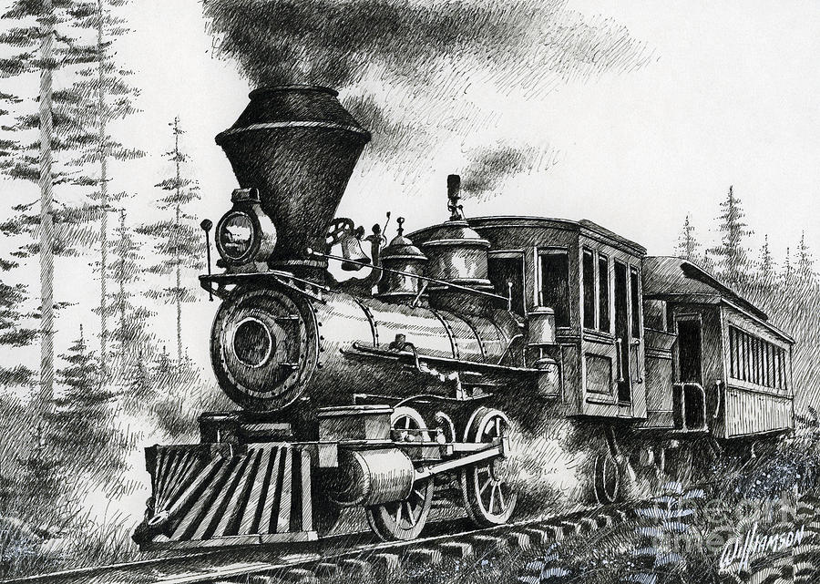 Historic Steam Drawing by James Williamson