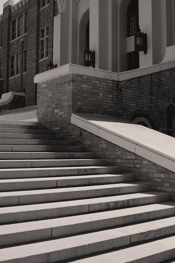 Little Rock Photograph - Historic Steps Little Rock Central High School by Brian M Lumley