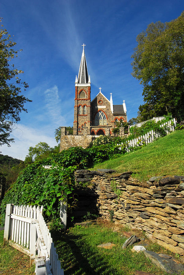 Church Photograph - Historic Stone Church Harpers Ferry by Mark VanDyke