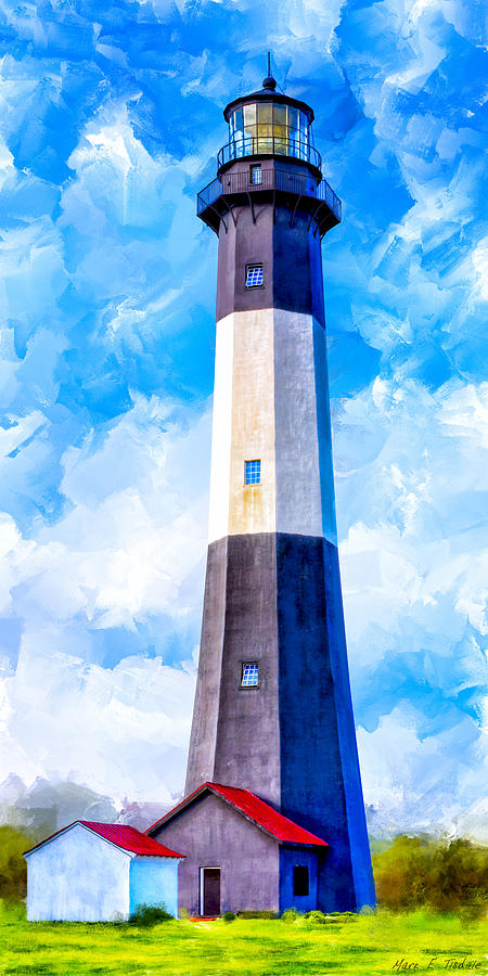 Tybee Mixed Media - Historic Tybee Island Lighthouse by Mark E Tisdale