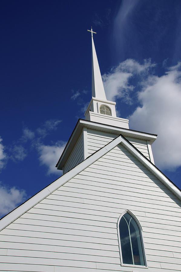 Historic Photograph - Historic White Church by Robert Braley