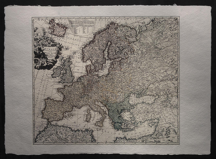 Maps Drawing - Historical Map Of Europe by Homann Johann Baptista