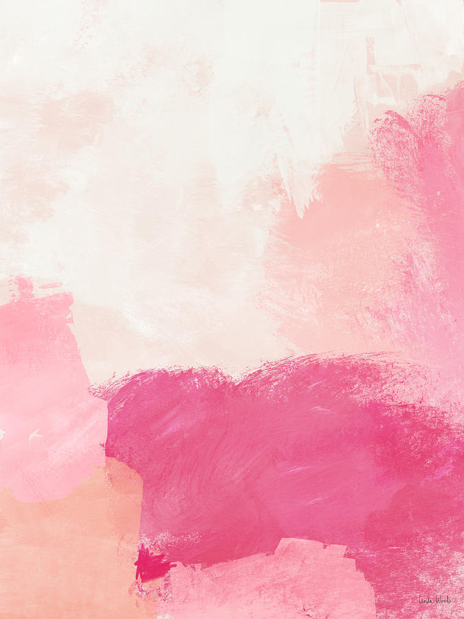 Abstract Mixed Media - History of Pink- Abstract Art by Linda Woods by Linda Woods