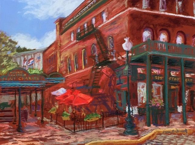 History Painting - History On Main Street by Jane McDowell