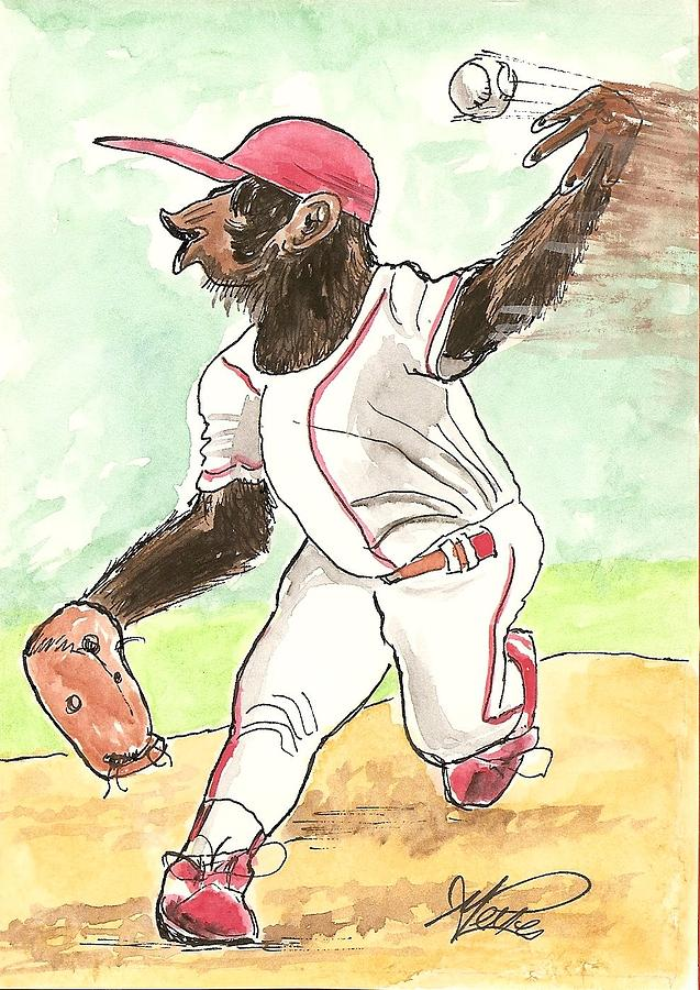 Baseball Drawing - Hit This by George I Perez