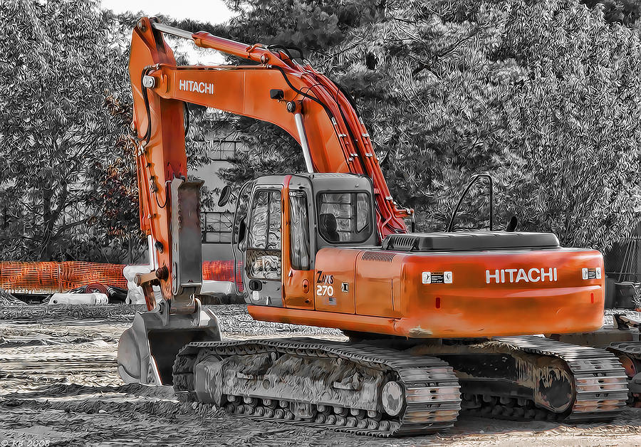 270 Photograph - Hitachi Zaxis 270 by Richard Bean