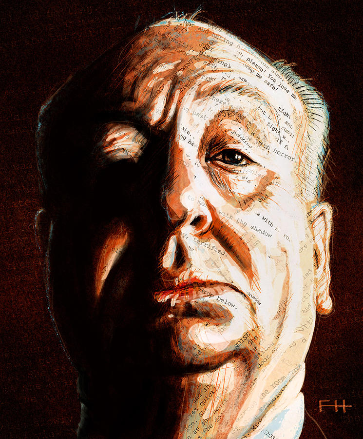 Alfred Hitchcock Painting - Hitchcock by Fay Helfer